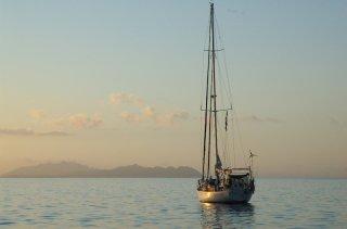 Lone Sailboat, Bahia Santa Maria